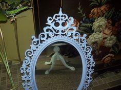 Baby girl, bedroom, bathroom upcycled Princess Burwood ornate mirror
