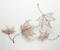 Leaves made from human hair