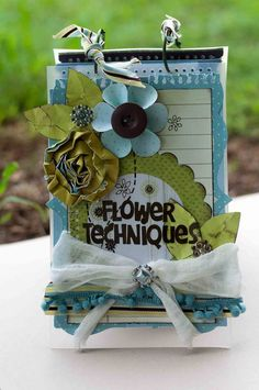 Flower Techniques Album - What a perfect way to remember all of the ways to make flowers!