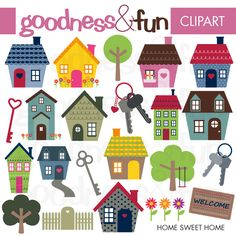 Illustrations & Cliparts - Home Sweet Home - MYGRAFICO - DIGITAL ARTS AND CRAFTS STORE