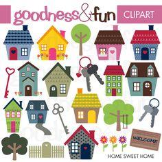 Home Sweet Home - Cliparts - Mygrafico.com