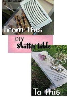DIY a table from an old shutter.