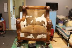 The Proper Man's Chair (aka cowhide makes everything better)