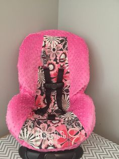 A personal favorite from my Etsy shop https://www.etsy.com/listing/245090864/minky-flowers-toddler-car-seat-cover
