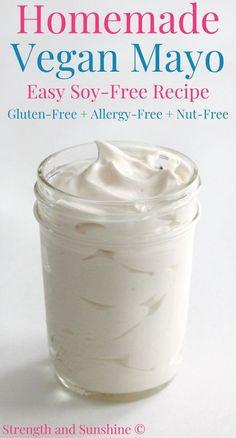 Vegan Keto, Vegan Gluten Free, Dairy Free, Vegan Recipes Easy, Vegetarian Recipes, Free Recipes, Vegan Mayonnaise, Best Blenders, Flavored Oils