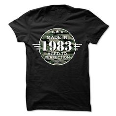 MADE IN 1983 AGED TO PERFECTION ARMY DESIGN T Shirts, Hoodie. Shopping Online…