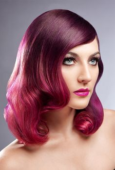 Bright purple and pink ombré #hair #bright #dyed #coloured #pink #purple #hair #color