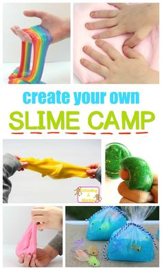 Embrace the fun of slime with this super fun backyard summer camp theme featuring slime recipes! Slime summer camp will make wonderful summer memories.