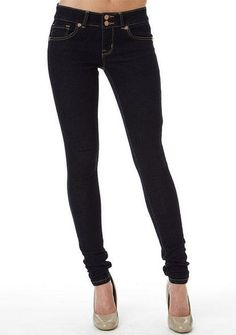 Someone just told me that Alloy has good long-n-lean pants -- Royal Blue Double Button Skinny Jean