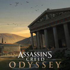 Assassins Creed Origins, Assassins Creed Odyssey, Inspirational Artwork, Assassin's Creed, Ancient Greece, Art Director, Olympia, Pegasus, Fantasy Art