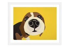 Example of type of dog painting I can create using my pups - Rankin Willard, Beagle