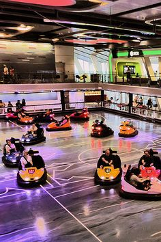 Bump around. Quantum of the Seas and Anthem of the Seas are the only ships with bumper cars. Buckle up!