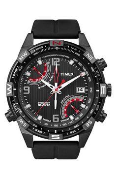 Timex® 'Intelligent Quartz' Flyback Chronograph Compass Watch