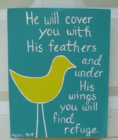 Canvas Painting Psalm 914 Bird by JordansCanvas on Etsy