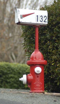 fire hydrant mailbox - Google Search