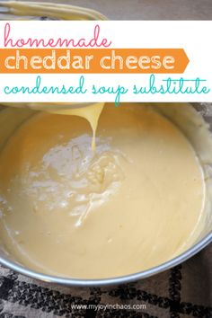 Homemade Condensed Cheddar Cheese Soup Substitute