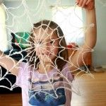 DIY Scary Spider Webs