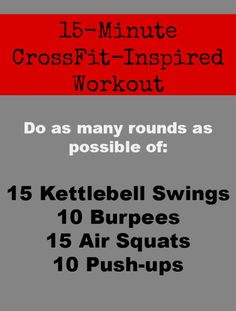 """Here's a WOD (""""Workout of the Day"""") that will work your entire body in just 4 moves. 
