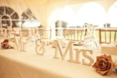 for the head table....