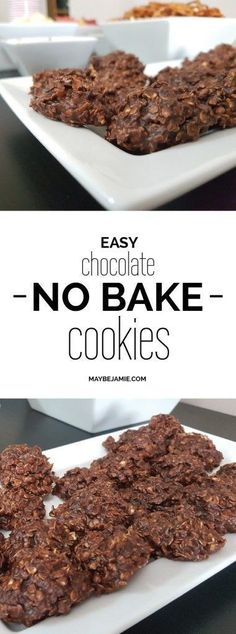 Super easy and delicious no bake chocolate cookies! Cocoa, oats, peanut butter and just a few other ingredients make up these amazing treats that you can't help but snack on.
