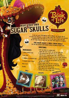 The BOOK OF LIFE World Market Exclusives & Sweepstakes #BookofLife @WorldMarket Sponsored  BOOK OF LIFE ACTIVITY SHEET  Sugar Skulls