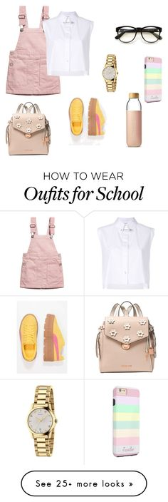 """""""too cool for school"""" by dheazfra on Polyvore featuring H&M, Helmut Lang, Soma, Michael Kors, Wildfox, Gucci and Puma"""