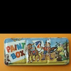 Paint Box by Calsidyrose, Can still smell the paint now . 1970s Childhood, My Childhood Memories, Retro Toys, Vintage Toys 1960s, 1960s Toys, 1980s, 80s Kids, Kids Tv, Painted Boxes