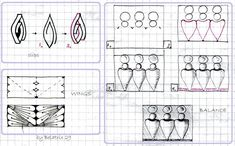 Zapletkano: Patterns for tangling: Clips/ Wings /Balance by HElena