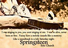 Springsteen Lyrics Eric Church