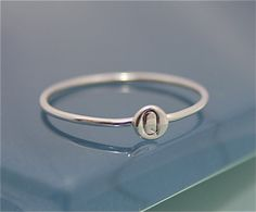 Tiny Dot Ring Sterling Silver Hand Cut Circle by tinysparklestudio, $20.00