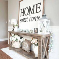 Decoration Bedroom, Diy Home Decor, Decor Room, Hallway Decorating, Rustic Decorations For Home, Decorating End Tables, Homemade Home Decor, Tv Decor, Wood Home Decor
