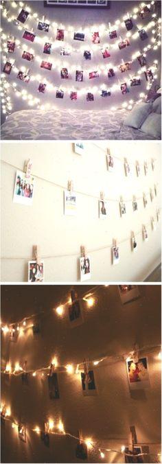 Polaroid wall with fairy lights … - Bedroom Decoration Teen Room Decor, Tv Decor, Bedroom Decor, Decor Ideas, Light Bedroom, Bedroom Ideas, Bedroom Lighting, Bedroom Designs, Polaroid Wand
