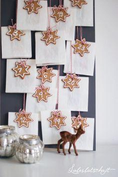 Star Cookie Advent Calendar via liebesbotschaft