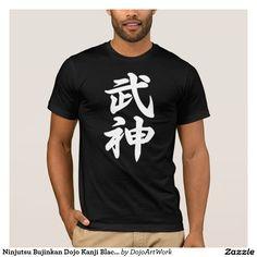 Ninjutsu Bujinkan Dojo Kanji Black T-shirt