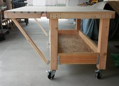 Building mobile work bench that can expand from 5 by 30 inches to 5ft by 4ft, not near done yet. I am going to have storage at the bottom, plus side tables that swing up at the end of the bench to put the tools on so the top stays clear, made it so it can fit thought the side gate so I can use it in front or back of the house. #woodworkingbench