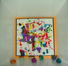 Jackson Pollock Inspired Art @ New Horizons Preschool