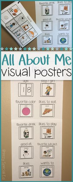 I always loved choosing a student to feature each month. The spotlight student gets a chance to talk all about themselves, what they like, and what they are good at, and they can really shine! Visual supports help all special education students communicate!  This also makes for a great get-to-know-you activity during the first week of school if you do your entire class at once!