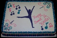 Dancer cake -  the silhouette is the birthday girl.