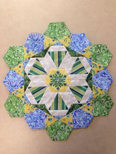 Katja Marek's The New Hexagon - Millefiore Quilt-Along: Rosette 5: Complete! By Tracy Pierceall, 1/21/2016