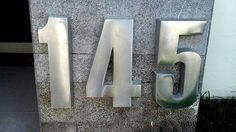 "Modern House Numbers 3D 12"" High 1.2"" Thick, big aluminum 100% recycled Aluminum"
