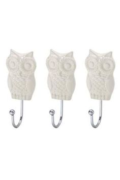 Owl Hooks~ perfect for hanging necklaces or scarves!