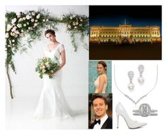 """""""Attending their wedding reception dinner at Buckingham Palace"""" by princessmillicent ❤ liked on Polyvore featuring Blue Nile and Bloomingdale's"""