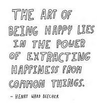 common, happy things.