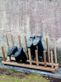 Oak Boot and Shoe Rack | Cox & Cox