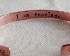 Skinny Cuff Bracelet Copper Secret Message Inside Only Hammered Initials On Cuffs Stacking Layering Adjustable Expandable Brass Aluminum by glitterazzijewels. Explore more products on http://glitterazzijewels.etsy.com
