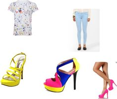 """""""neon dance outfit"""" by edsonlme on Polyvore"""