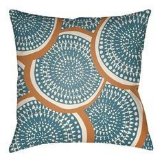 "Artistic Weavers Litchfield Summerville Outdoor Throw Pillow Size: 16"" H x 16"" W, Color: Bright Yellow/Ivory"