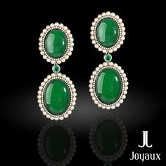 08730d5d3 Angelina Jolie AUCTION Natural Colombian Emerald & Diamond 18k White ...
