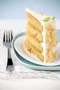 brown sugar cake, pineapple fllling, coconut frosting.