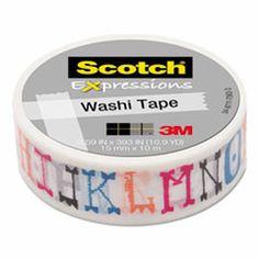 "Expressions Washi Tape, .59"" x 393"", Illustrated Alpha MMMC314P29"